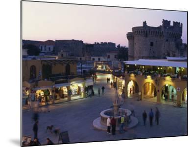 Hypocratus Square, Rhodes Town, Rhodes, Dodecanese, Greek Islands, Greece, Europe-Simanor Eitan-Mounted Photographic Print