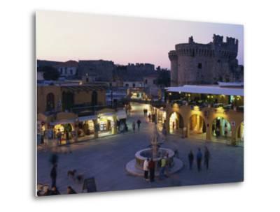 Hypocratus Square, Rhodes Town, Rhodes, Dodecanese, Greek Islands, Greece, Europe-Simanor Eitan-Metal Print