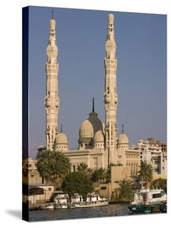 Port Fuad Mosque and the Suez Canal, Port Said, Egypt, North Africa, Africa-Richardson Rolf-Stretched Canvas Print
