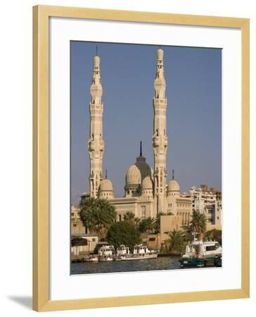 Port Fuad Mosque and the Suez Canal, Port Said, Egypt, North Africa, Africa-Richardson Rolf-Framed Photographic Print
