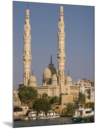 Port Fuad Mosque and the Suez Canal, Port Said, Egypt, North Africa, Africa-Richardson Rolf-Mounted Photographic Print