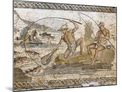 Roman Mosaic Dating from the 2 AD, from the Villa of the Nile at Leptis Magna, Tripoli, Libya-Rennie Christopher-Mounted Photographic Print