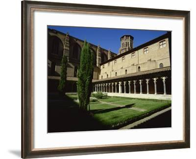 Cloister of Le Couvent Des Augustins, 14th C, Augustins Museum, Toulouse, Midi-Pyrenees, France-Rawlings Walter-Framed Photographic Print