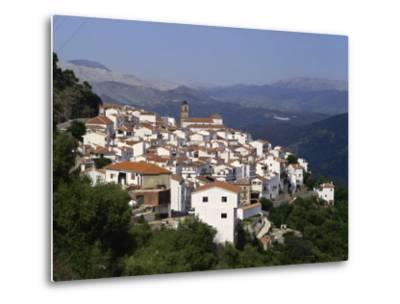 White Village of Algatocin, Andalucia, Spain, Europe-Short Michael-Metal Print