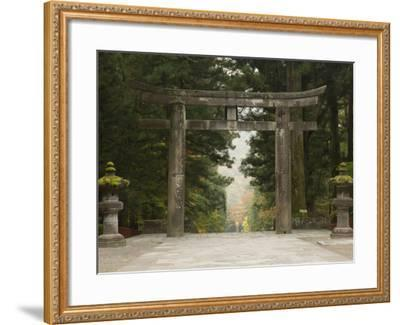 Stone Torii, Tosho-Gu Shrine, Nikko, Central Honshu, Japan-Schlenker Jochen-Framed Photographic Print