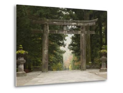 Stone Torii, Tosho-Gu Shrine, Nikko, Central Honshu, Japan-Schlenker Jochen-Metal Print