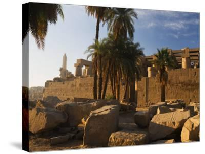 Temple of Amun at Karnak, Thebes, UNESCO World Heritage Site, Egypt, North Africa, Africa-Schlenker Jochen-Stretched Canvas Print