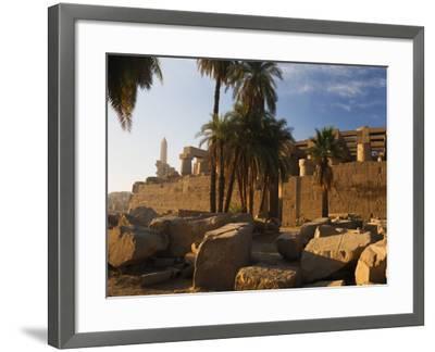 Temple of Amun at Karnak, Thebes, UNESCO World Heritage Site, Egypt, North Africa, Africa-Schlenker Jochen-Framed Photographic Print