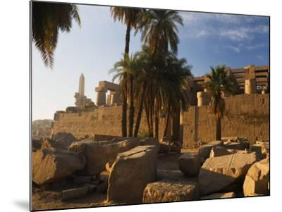 Temple of Amun at Karnak, Thebes, UNESCO World Heritage Site, Egypt, North Africa, Africa-Schlenker Jochen-Mounted Photographic Print
