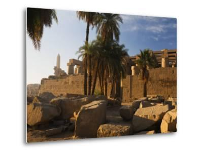 Temple of Amun at Karnak, Thebes, UNESCO World Heritage Site, Egypt, North Africa, Africa-Schlenker Jochen-Metal Print