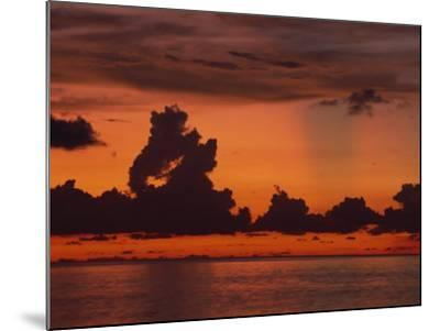 Tropical Sunset Off Seven Mile Beach, Cayman Islands, West Indies, Central America-Tomlinson Ruth-Mounted Photographic Print