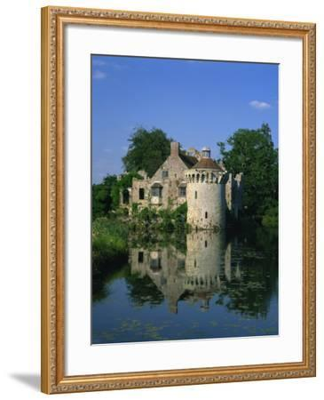 Castle Reflected in Lake, Scotney Castle, Near Lamberhurst, Kent, England, United Kingdom, Europe-Tomlinson Ruth-Framed Photographic Print