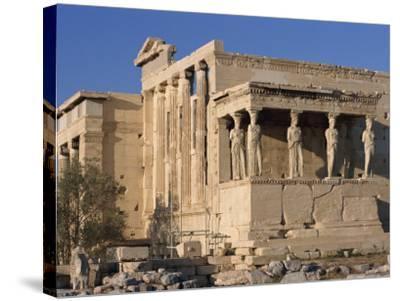 Caryatid Portico, Erechthion, Acropolis, UNESCO World Heritage Site, Athens, Greece, Europe-Thouvenin Guy-Stretched Canvas Print