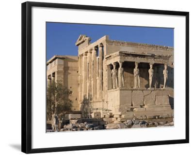 Caryatid Portico, Erechthion, Acropolis, UNESCO World Heritage Site, Athens, Greece, Europe-Thouvenin Guy-Framed Photographic Print