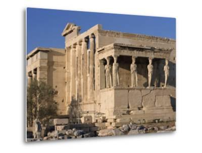 Caryatid Portico, Erechthion, Acropolis, UNESCO World Heritage Site, Athens, Greece, Europe-Thouvenin Guy-Metal Print