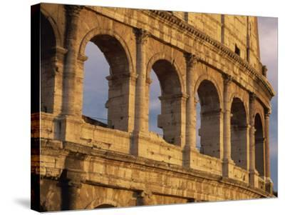 Detail of the Colosseum at Sunset, Rome, Lazio, Italy, Europe-Tomlinson Ruth-Stretched Canvas Print