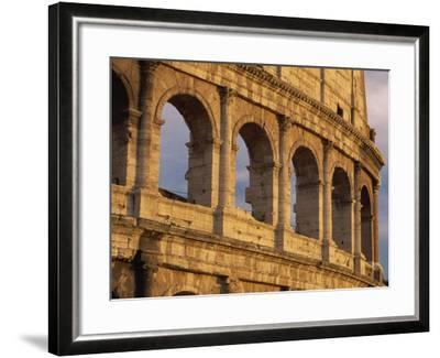 Detail of the Colosseum at Sunset, Rome, Lazio, Italy, Europe-Tomlinson Ruth-Framed Photographic Print