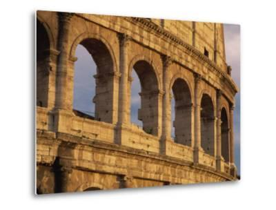 Detail of the Colosseum at Sunset, Rome, Lazio, Italy, Europe-Tomlinson Ruth-Metal Print