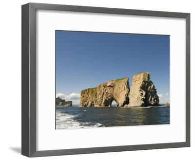 Perce Rock, Gaspe Peninsula, Province of Quebec, Canada, North America-Snell Michael-Framed Photographic Print