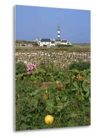 Creac'H Lighthouse, Ouessant Island, Finistere, Brittany, France, Europe-Thouvenin Guy-Metal Print