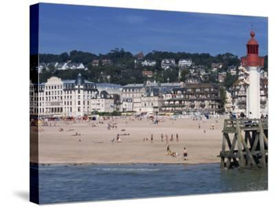 Lighthouse and Pier, Trouville, Basse Normandie, France, Europe-Thouvenin Guy-Stretched Canvas Print