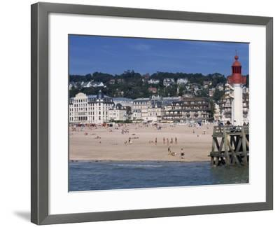 Lighthouse and Pier, Trouville, Basse Normandie, France, Europe-Thouvenin Guy-Framed Photographic Print