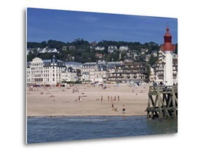 Lighthouse and Pier, Trouville, Basse Normandie, France, Europe-Thouvenin Guy-Metal Print