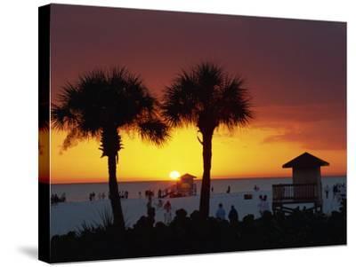 Sunset from Siesta Beach, Siesta Key, Sarasota, Florida, United States of America, North America-Tomlinson Ruth-Stretched Canvas Print
