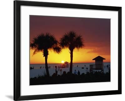 Sunset from Siesta Beach, Siesta Key, Sarasota, Florida, United States of America, North America-Tomlinson Ruth-Framed Photographic Print