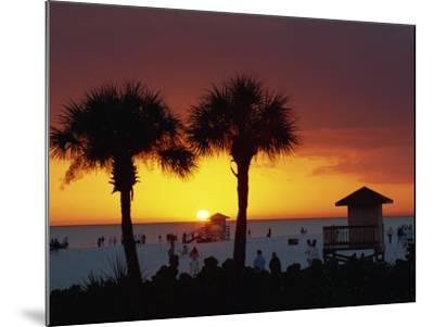 Sunset from Siesta Beach, Siesta Key, Sarasota, Florida, United States of America, North America-Tomlinson Ruth-Mounted Photographic Print