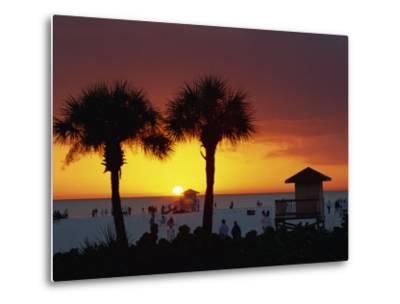 Sunset from Siesta Beach, Siesta Key, Sarasota, Florida, United States of America, North America-Tomlinson Ruth-Metal Print