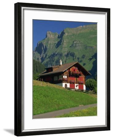 Typical Wooden Chalet with Colourful Shutters, Grindelwald, Bern, Switzerland, Europe-Tomlinson Ruth-Framed Photographic Print