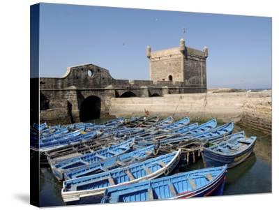 Skala of the Port, the Old Fishing Port, Essaouira, Historic City of Mogador, Morocco-De Mann Jean-Pierre-Stretched Canvas Print