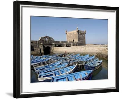 Skala of the Port, the Old Fishing Port, Essaouira, Historic City of Mogador, Morocco-De Mann Jean-Pierre-Framed Photographic Print
