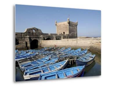Skala of the Port, the Old Fishing Port, Essaouira, Historic City of Mogador, Morocco-De Mann Jean-Pierre-Metal Print