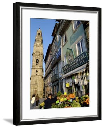 Fruit and Vegetable Stall, Quarter of Clerigos Tower, Porto, Portugal, Europe-De Mann Jean-Pierre-Framed Photographic Print