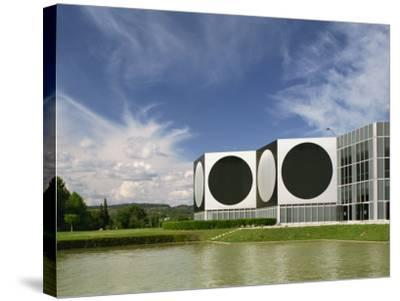 Modern Buildings of the Vasarely Foundation at Aix En Provence, Provence, France, Europe-Westwater Nedra-Stretched Canvas Print