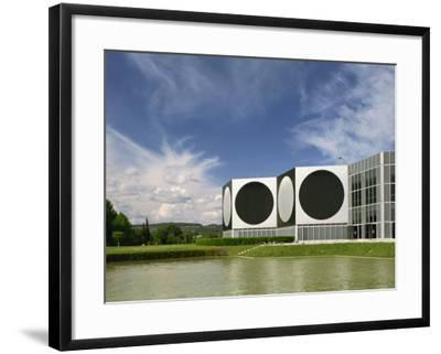 Modern Buildings of the Vasarely Foundation at Aix En Provence, Provence, France, Europe-Westwater Nedra-Framed Photographic Print