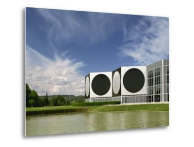 Modern Buildings of the Vasarely Foundation at Aix En Provence, Provence, France, Europe-Westwater Nedra-Metal Print