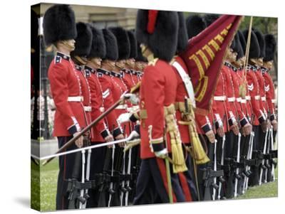 Changing the Guard Ceremony, Parliament Hill, Ottawa, Ontario, Canada, North America-De Mann Jean-Pierre-Stretched Canvas Print