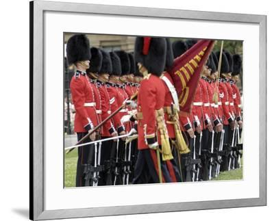 Changing the Guard Ceremony, Parliament Hill, Ottawa, Ontario, Canada, North America-De Mann Jean-Pierre-Framed Photographic Print