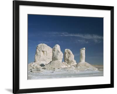 Isolated Chalk Towers, Remnants of Karst, Farafra Oasis, White Desert, Western Desert, Egypt-Waltham Tony-Framed Photographic Print