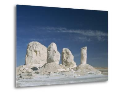 Isolated Chalk Towers, Remnants of Karst, Farafra Oasis, White Desert, Western Desert, Egypt-Waltham Tony-Metal Print