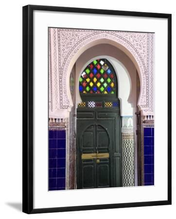 Door in the Souks in the Medina, Marrakesh, Morroco, North Africa, Africa-De Mann Jean-Pierre-Framed Photographic Print