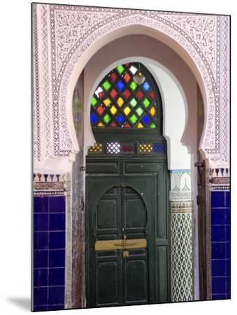 Door in the Souks in the Medina, Marrakesh, Morroco, North Africa, Africa-De Mann Jean-Pierre-Mounted Photographic Print