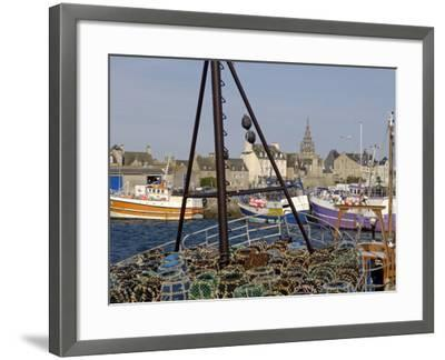 Roscoff Harbour, North Finistere, Brittany, France, Europe-De Mann Jean-Pierre-Framed Photographic Print