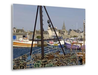 Roscoff Harbour, North Finistere, Brittany, France, Europe-De Mann Jean-Pierre-Metal Print