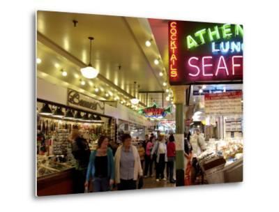 Pike Market, Seattle, Washington State, United States of America, North America-De Mann Jean-Pierre-Metal Print