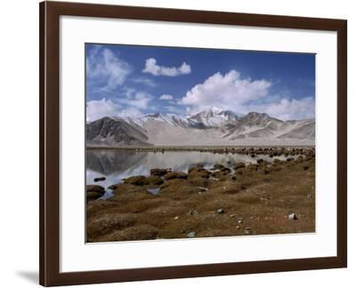 High Mountain Lake and Mountain Peaks, Beside the Karakoram Highway, China-Alison Wright-Framed Photographic Print