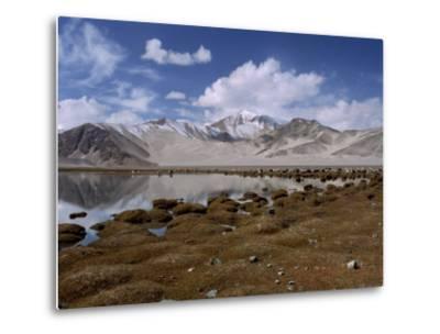 High Mountain Lake and Mountain Peaks, Beside the Karakoram Highway, China-Alison Wright-Metal Print